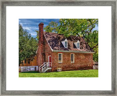 Old Colonial Brick House Framed Print by Frank J Benz