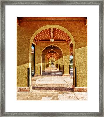 Historic 1927 Train Station - Venice Florida Framed Print