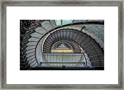 Saint Augustine Light Stairway Framed Print