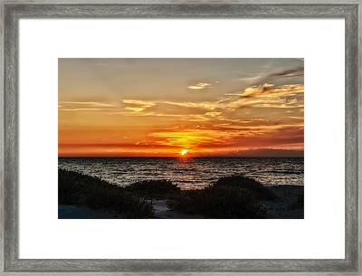 Sand Dune Sunset Framed Print