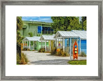 Beach Cottages Framed Print by Frank J Benz
