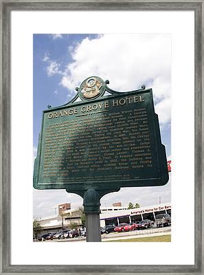 Fl-1021 Orange Grove Hotel Framed Print by Jason O Watson