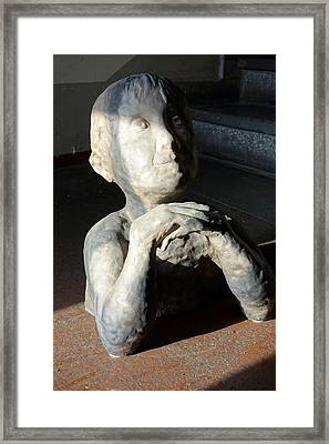 Flabbergasted Young Man  Framed Print