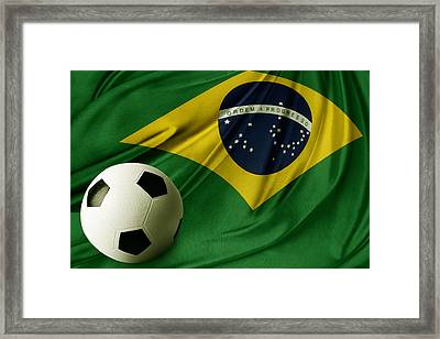 Flag And Ball Framed Print by Les Cunliffe