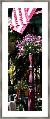 Flag And Flowers 6110 Pe Framed Print