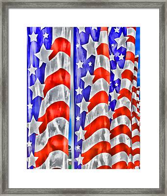 Flag Banners Wowc Framed Print