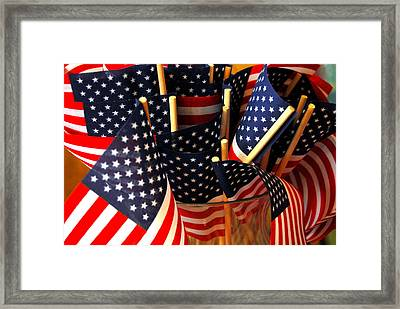Flag Bouquet Framed Print by Mamie Gunning