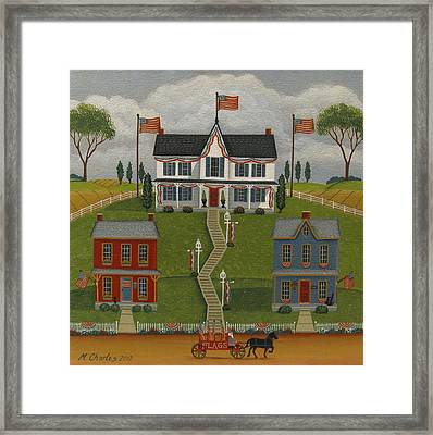 Flag Day Framed Print by Mary Charles