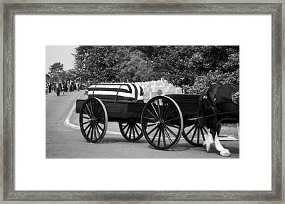 Flag Draped Casket At Arlington Framed Print
