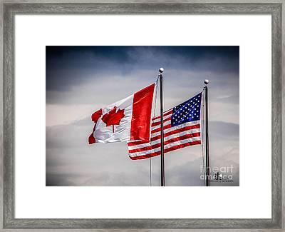 Flag Duo Framed Print
