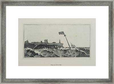 Flag Flying In A Stormy Sea Framed Print by British Library