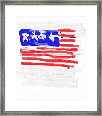 Flag Framed Print by Jay Manne-Crusoe