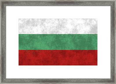 Flag Of Bulgaria Framed Print by World Art Prints And Designs