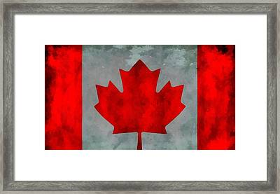 Flag Of Canada Framed Print by Dan Sproul