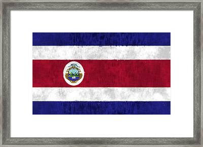 Flag Of Costa Rica Framed Print