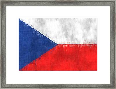 Flag Of Czech Republic Framed Print by World Art Prints And Designs