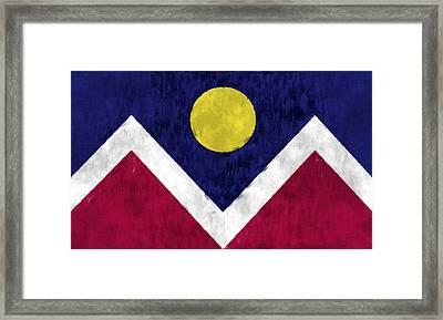 Flag Of Denver Framed Print by World Art Prints And Designs