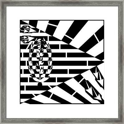 Flag Of Eritrea Maze Framed Print by Yonatan Frimer Maze Artist