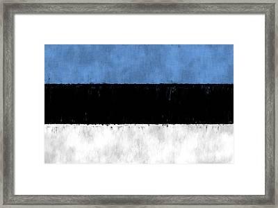Flag Of Estonia Framed Print