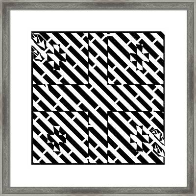 Flag Of Georgia Maze  Framed Print by Yonatan Frimer Maze Artist