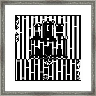 Flag Of Gibraltar Maze  Framed Print by Yonatan Frimer Maze Artist