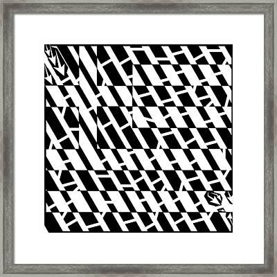Flag Of Greece Maze  Framed Print by Yonatan Frimer Maze Artist