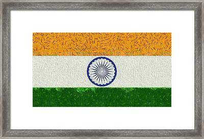 Flag Of India Framed Print by Dan Sproul