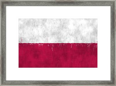 Flag Of Poland Framed Print by World Art Prints And Designs
