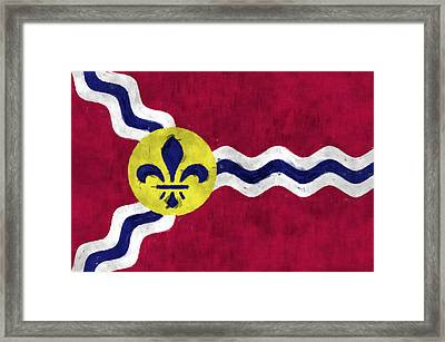 Flag Of St.louis Framed Print