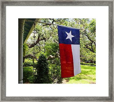 Flag -  Texas The Lone Star State -  Luther Fine Art Framed Print by Luther Fine Art