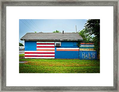 Flag Wall Framed Print