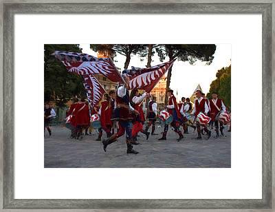 Flag-wavers Framed Print by Roberto Giobbi