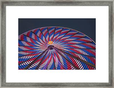 Framed Print featuring the photograph Flag Wheel by Darleen Stry