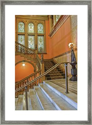 Flagler College Entryway Framed Print by Rich Franco