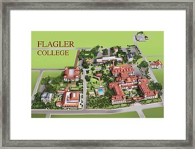 Flagler College Framed Print by Rhett and Sherry  Erb