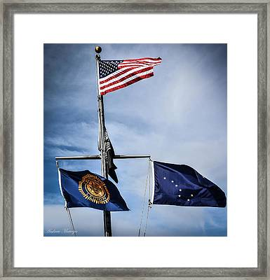 Flags Framed Print