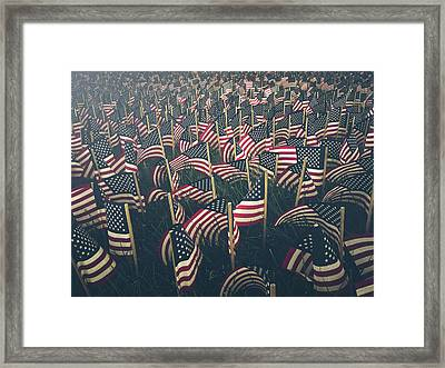 Flags Framed Print by Fran Polito