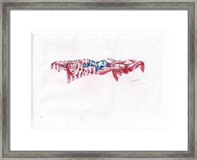 Flags Framed Print by Garrett Wright