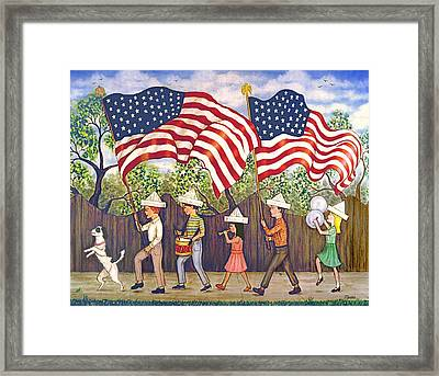 Flags Framed Print by Linda Mears