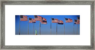 Flags New York Ny Framed Print