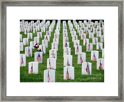 Framed Print featuring the photograph Flags Of Honor by Ed Weidman