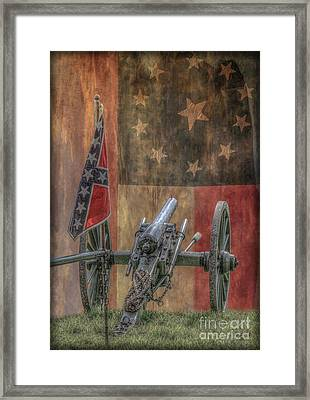 Flags Of The Confederacy Framed Print by Randy Steele