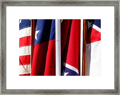 Flags Of The North And South Framed Print by Joe Kozlowski