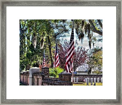 Framed Print featuring the photograph Flags That Stand by Victor Montgomery