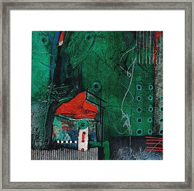Flags Up At The Red Roof Inn Framed Print