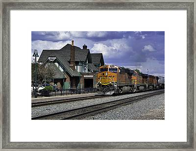 Flagstaff Station Framed Print