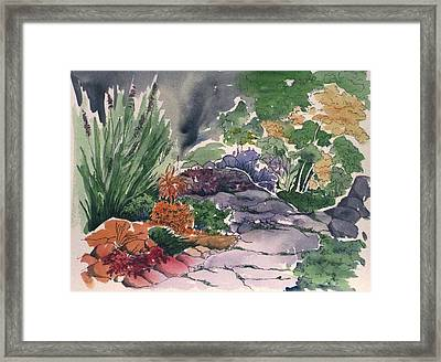 Flagstone Path Framed Print by Renee Goularte
