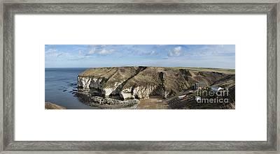 Flamborough North Landing Framed Print