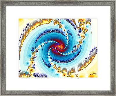Flame Framed Print by Bobby Hammerstone