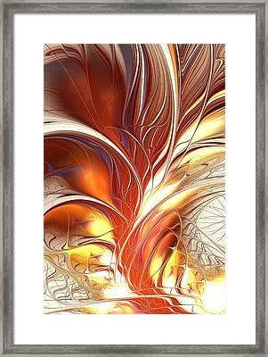 Flame Burst Framed Print by Anastasiya Malakhova